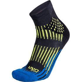 UYN Run Shockwave Socks Men anthracite/royal blue/yellow fluo